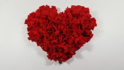 Snuffle rug in heart shape